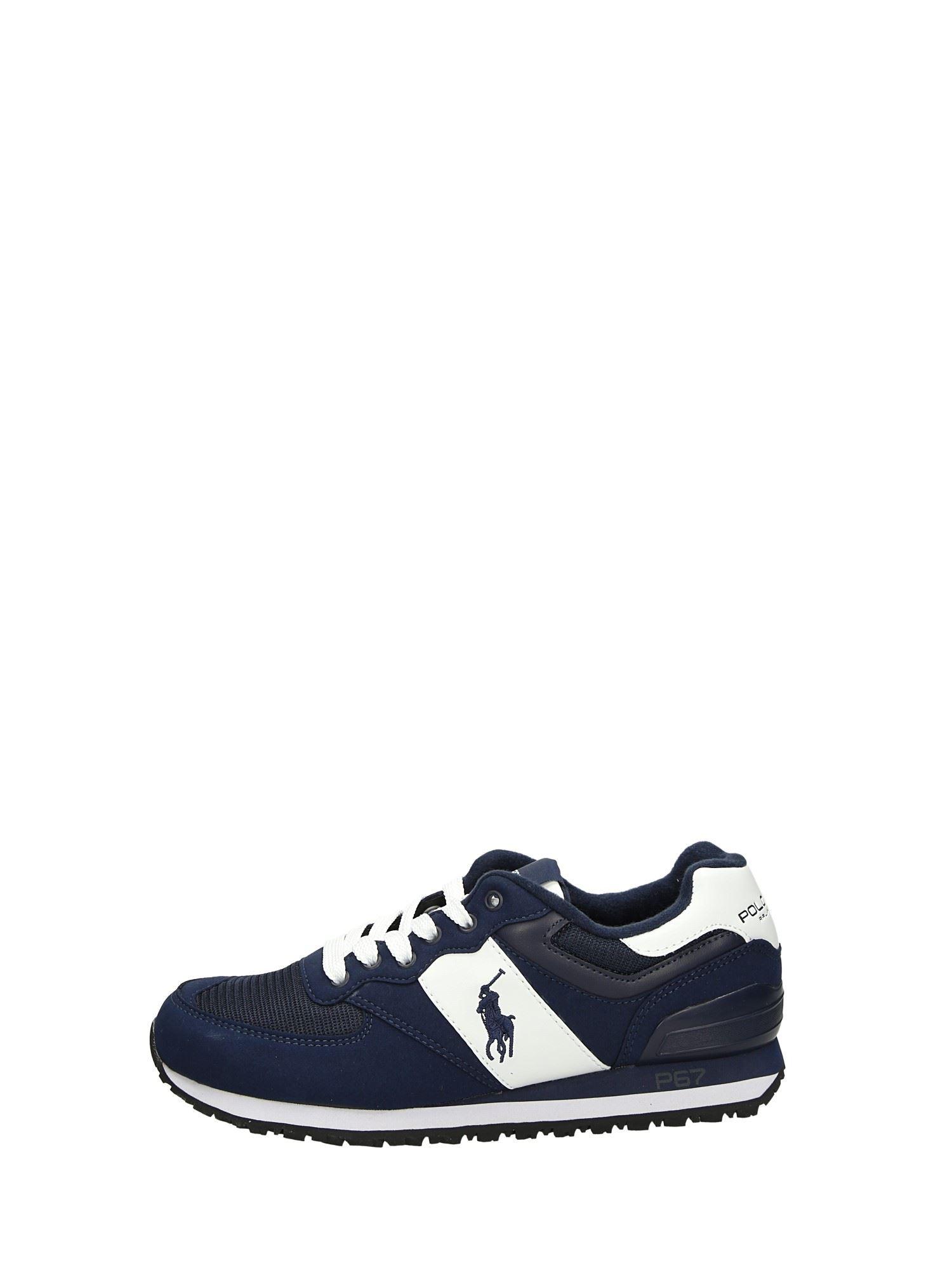 Polo Ralph Lauren SLATON PONY Blu Scarpe Uomo Sneakers 61216999cfc