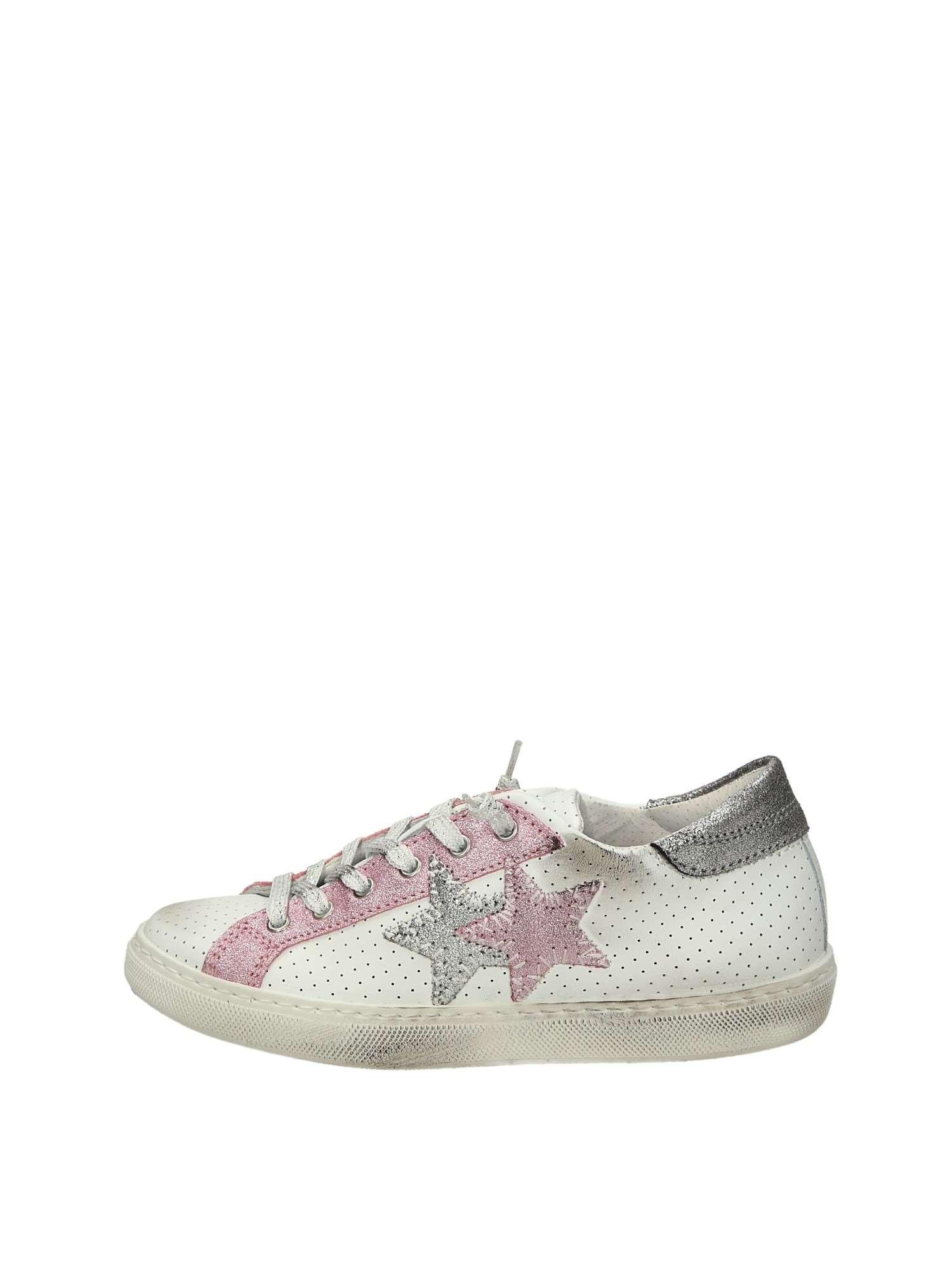 2star 2SB1111C Bianco Rosa Scarpe Donna Sneakers 5a90e498982