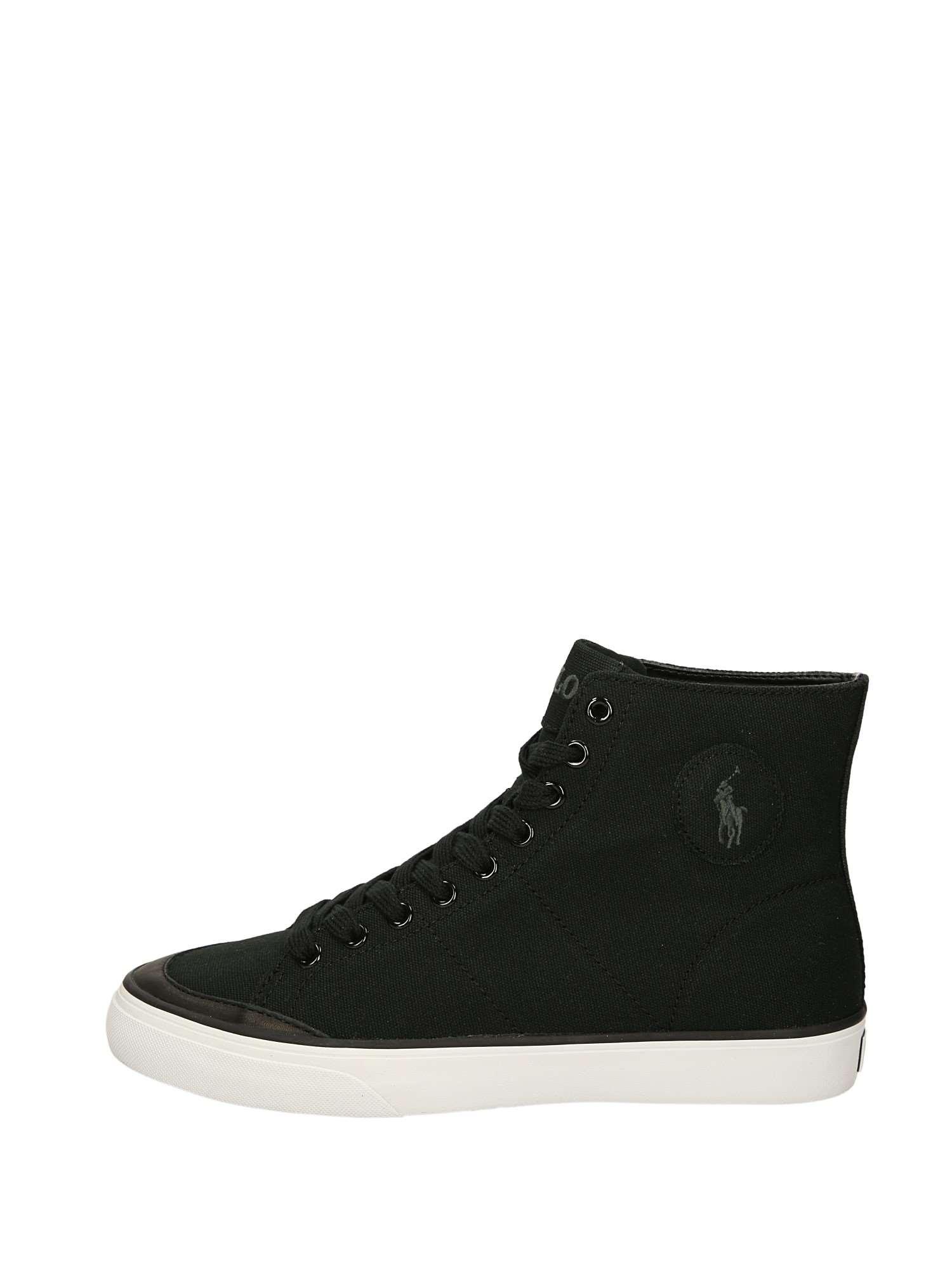 wholesale dealer 2288f 24c79 Polo Ralph Lauren Sneakers Alte Uomo Nero | Lalilina