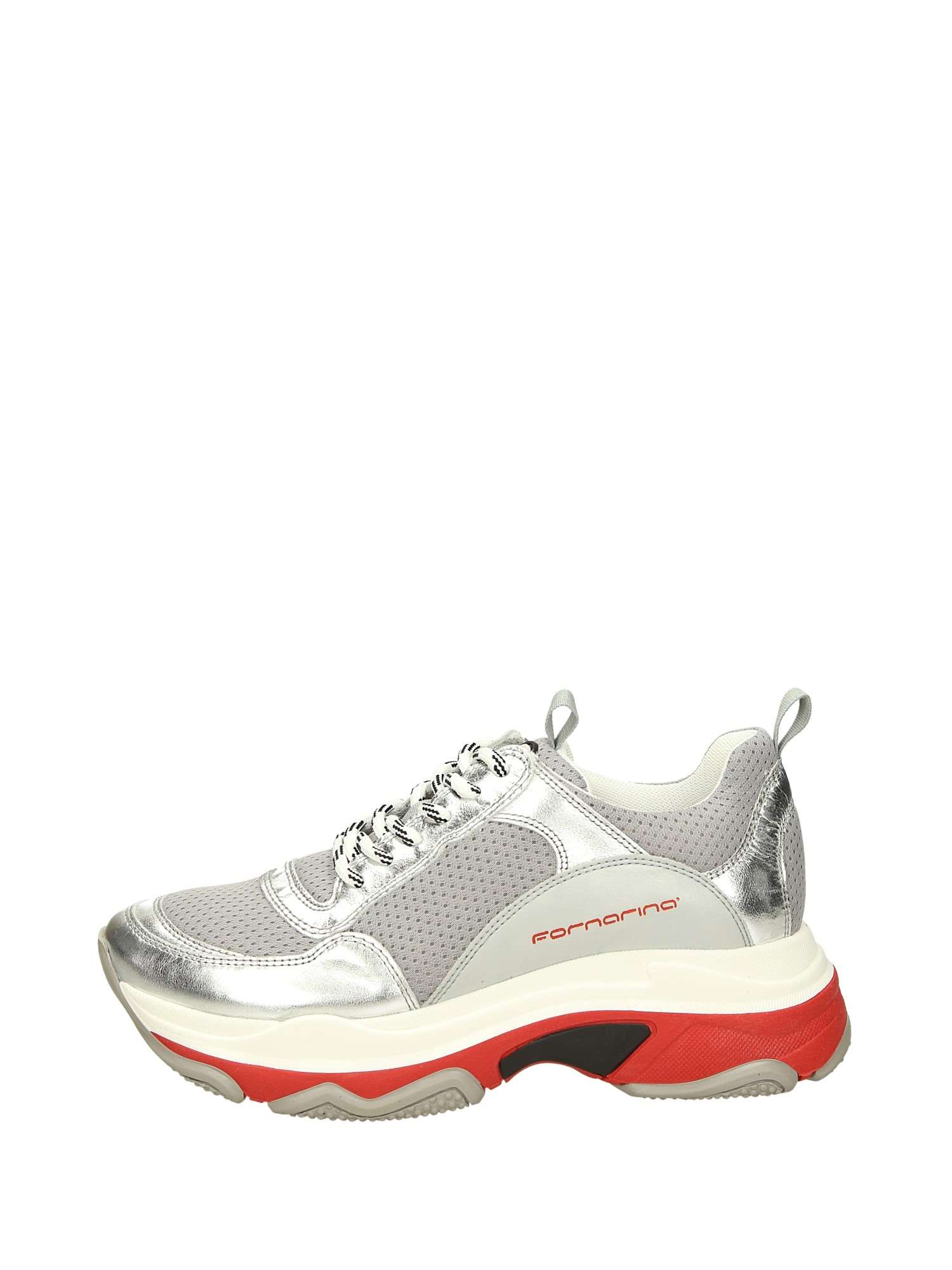 Fornarina DPI19SUPER30 Argento Scarpe Donna Sneakers c2c1eef800a