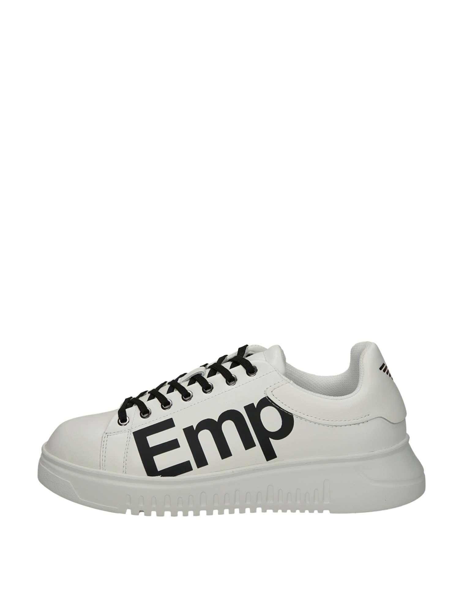 Emporio Armani X4X264 Bianco Nero Scarpe Uomo Sneakers 23fc362402b