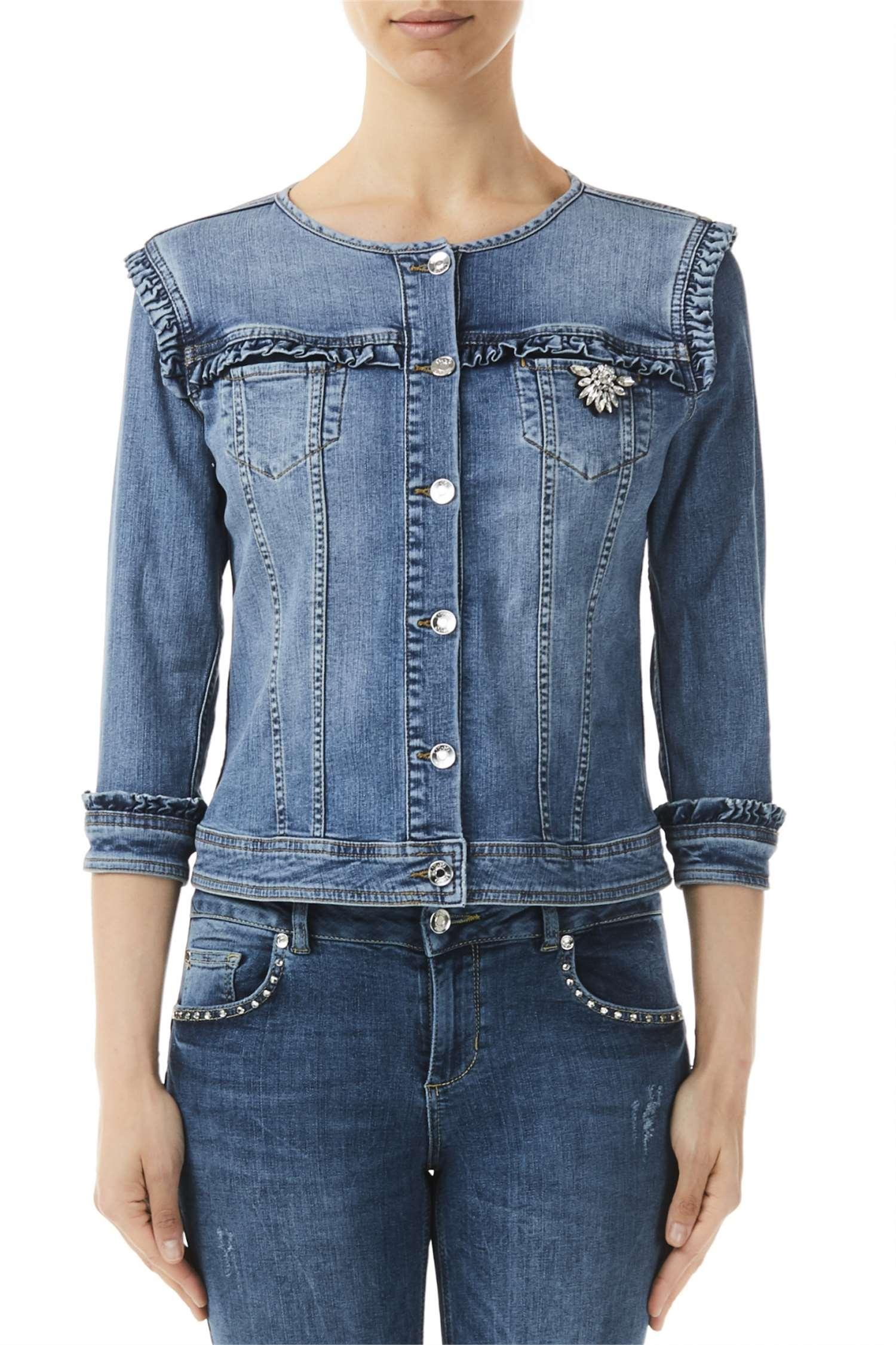 063c164191ce8 Liu Jo U19016D4313 Jeans Abbigliamento Donna Capispalla