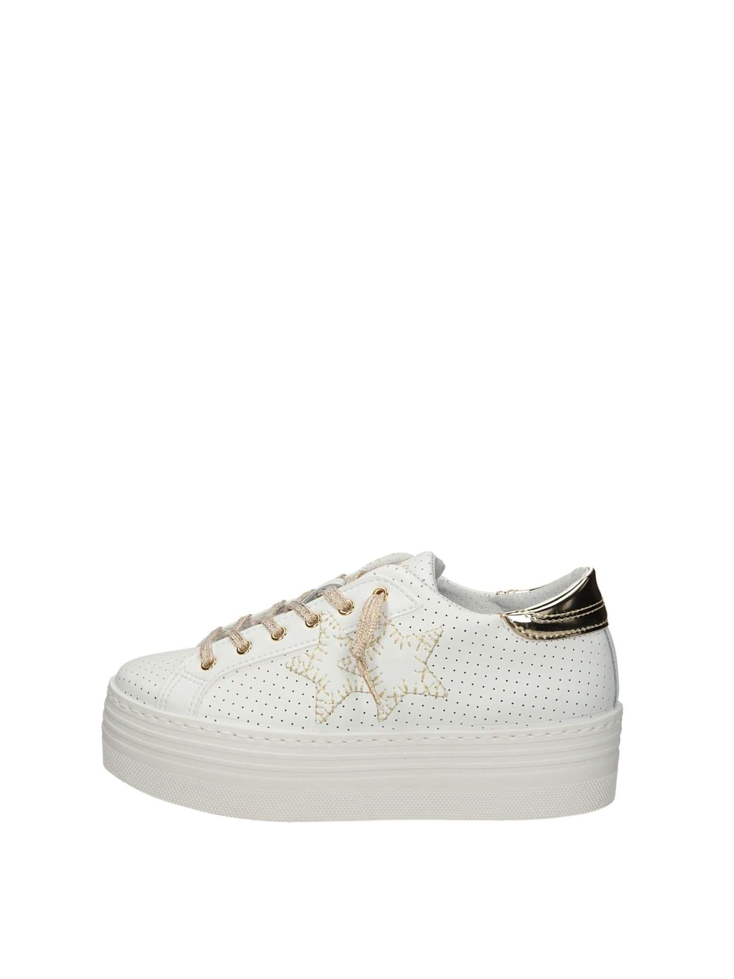 2star 1451 Bianco Oro Scarpe Donna Sneakers de7d3cf5400