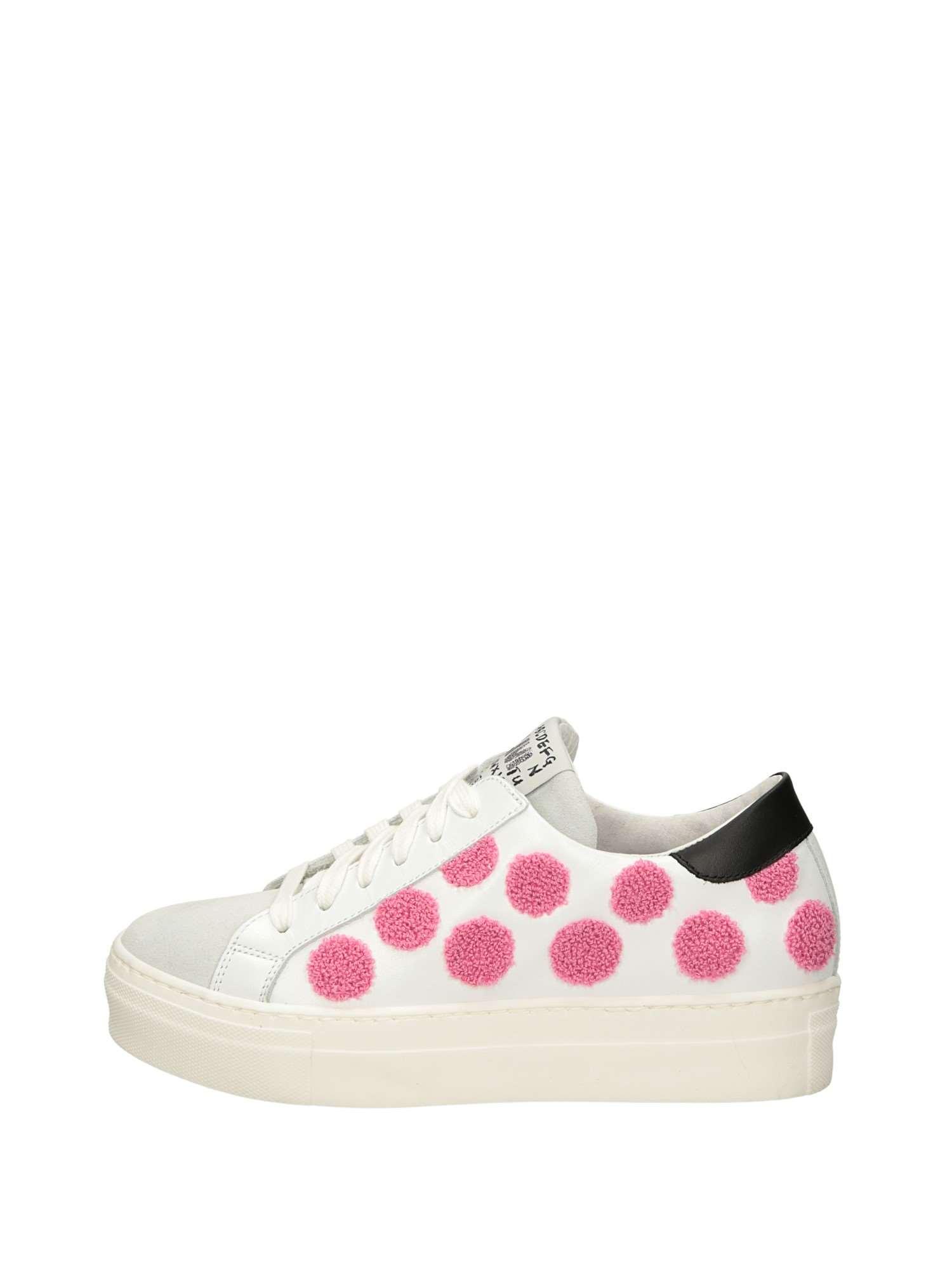 scarpe sportive 12da0 15a2d Meline Sneakers Basse Donna Bianco Rosa   Lalilina