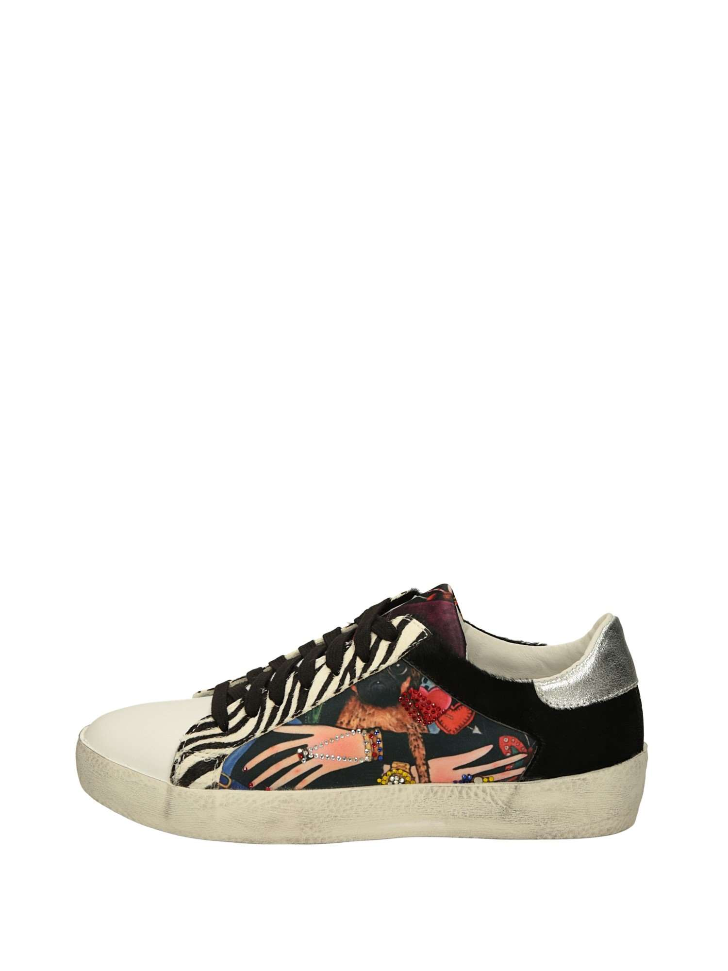 design di qualità 8fef5 a4a82 Meline Sneakers Basse Donna Bianco Nero   Lalilina