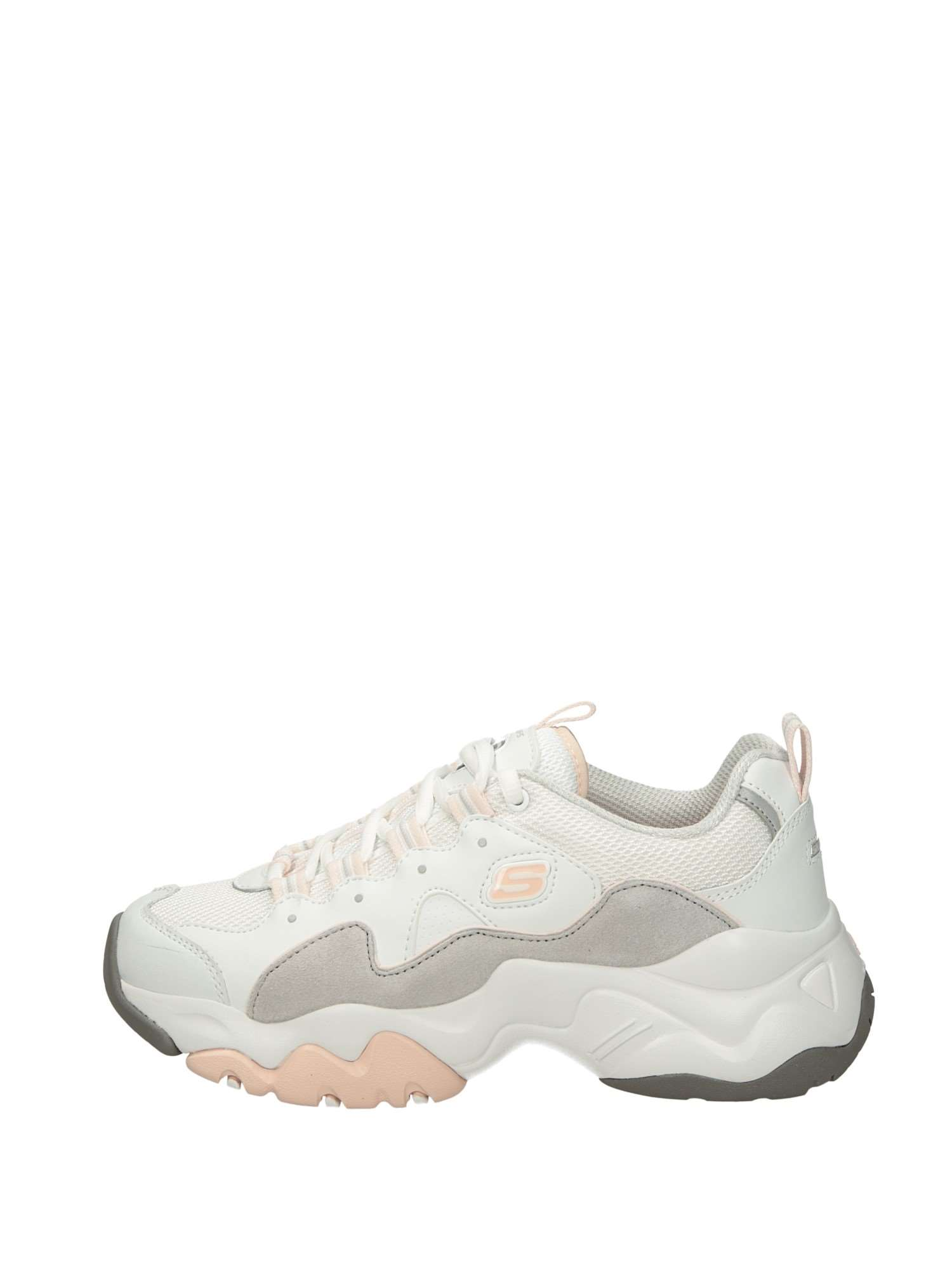 best sneakers 714b6 c4dee Skechers Sneakers Zeppa Donna Bianco Rosa | Lalilina