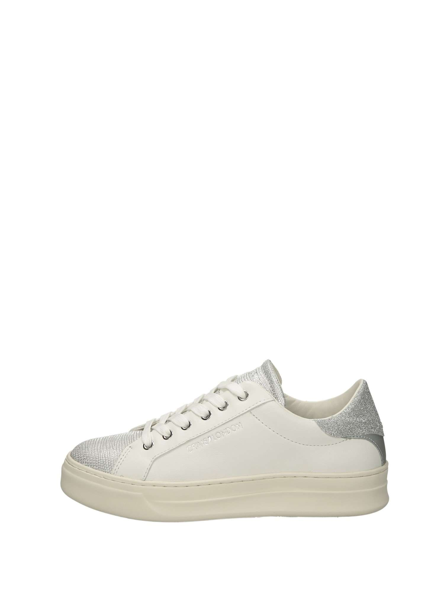 Crime Blanc Wehid29 Basse Argentfemme London Sneakers 50 m80vnwN