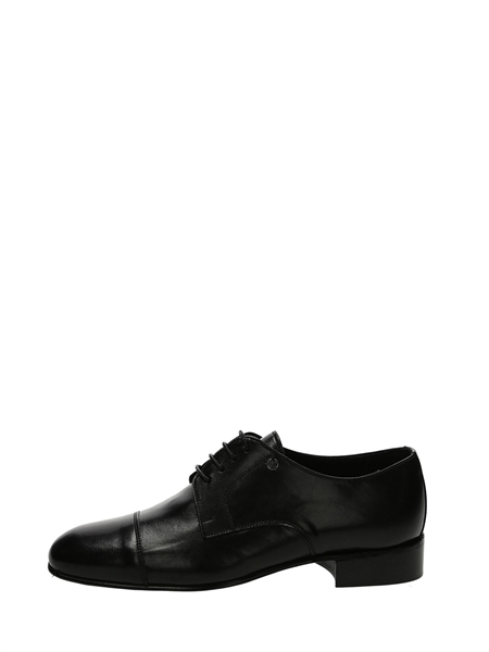 Peppe 'o Piezzo Lace-Up Flats Black