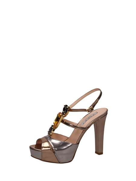 Tiffi Sandals Heels And Plateau Platinum