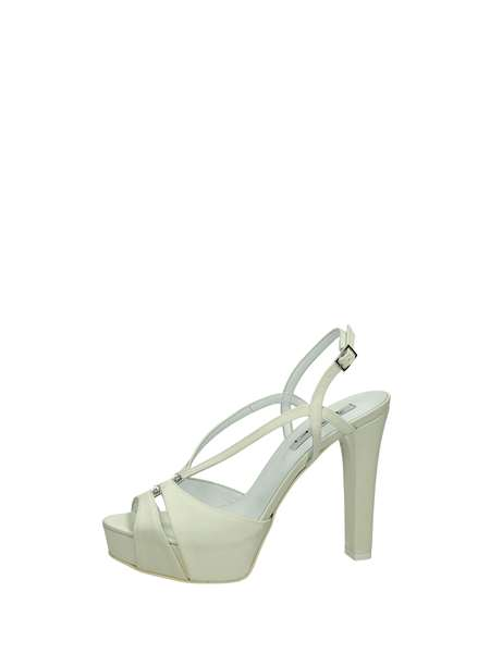 Tiffi Sandals Heels And Plateau Ivory