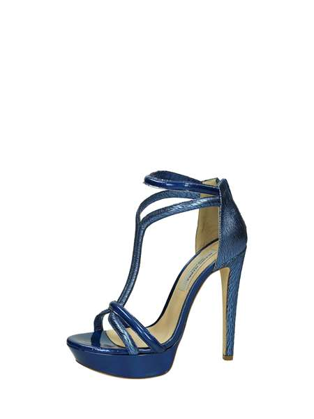 Gianni Marra Sandals Heels And Plateau Royal Blue