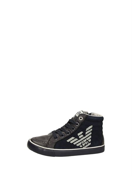 Armani Junior Sneakers Alte Indaco
