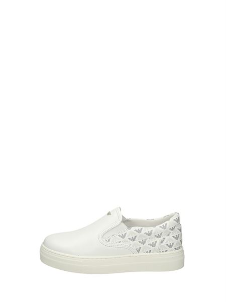 Armani Junior Slip On Bianco