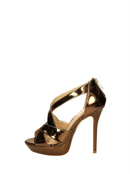 Ikaros Sandals Heels And Plateau Bronze
