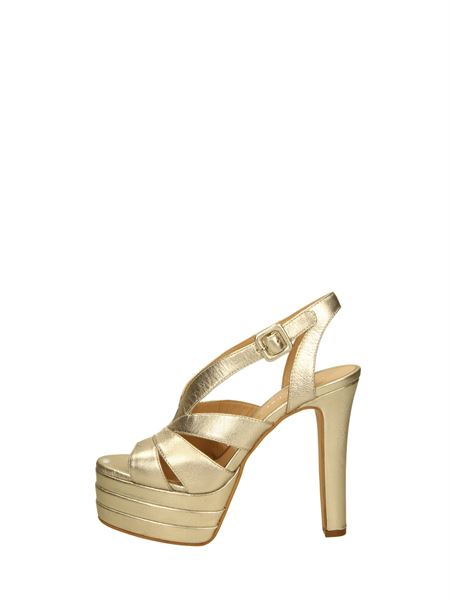 Bruno Premi Sandals Heels And Plateau Platinum