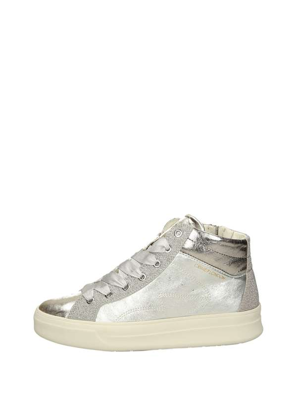 Crime London Sneakers Alte Argento