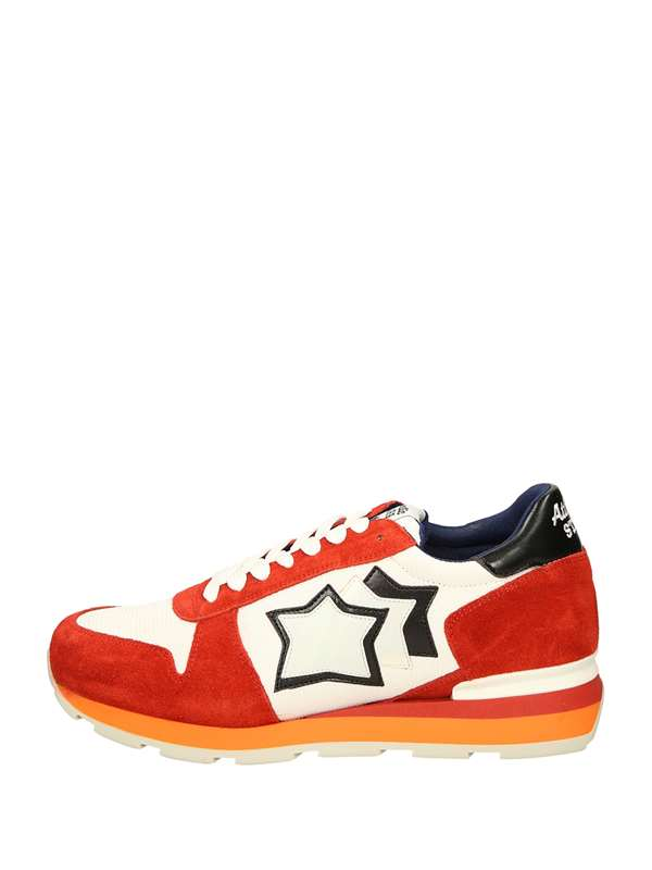Atlantic Stars Low Sneakers White Red
