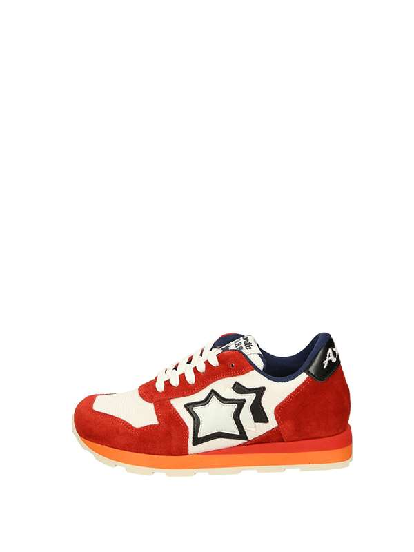 Atlantic Stars Sneakers Basse  Bianco Rosso