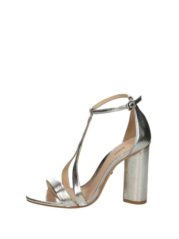 Schutz Sandals Heels And Plateau Silver