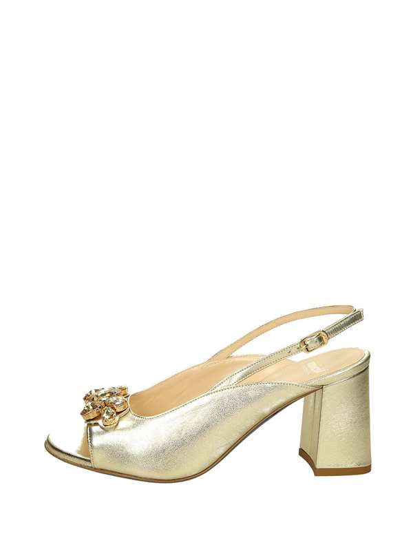 Micol Sandals Heels And Plateau Platinum