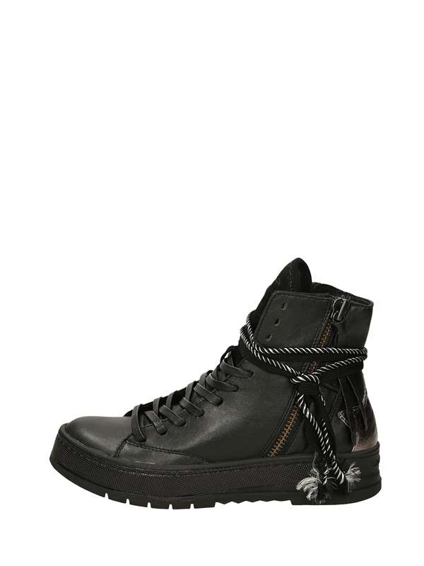 Crime London Sneakers Alte Nero