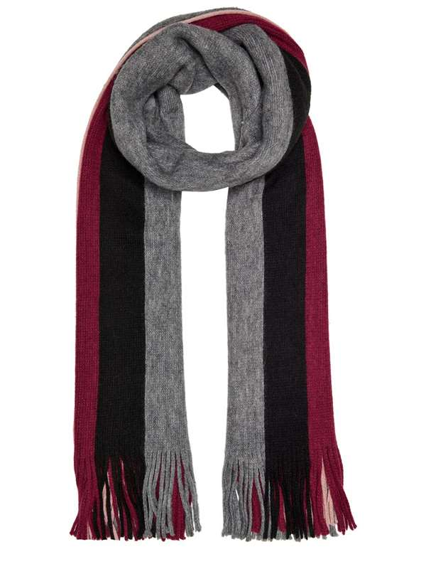 Only Scarf Gray Rose