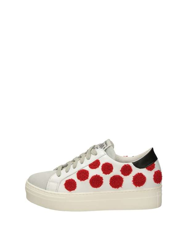 Meline Sneakers Basse  Bianco Rosso