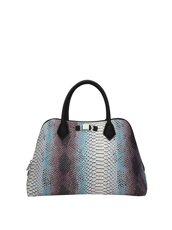 Save My Bag Shopping Bianco Azzurro