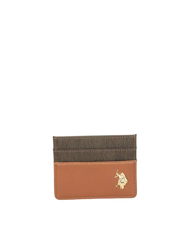 U.s. Polo Assn Porta Carte Credito Marrone