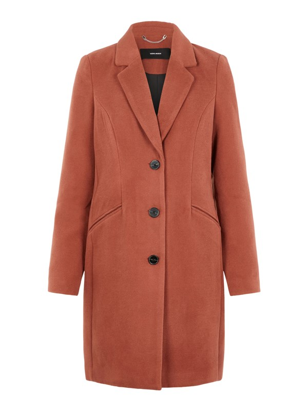 Vero Moda Cappotto Ruggine