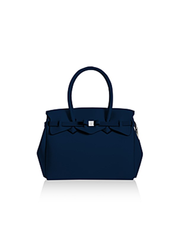 Save My Bag Shopping Blu Scuro