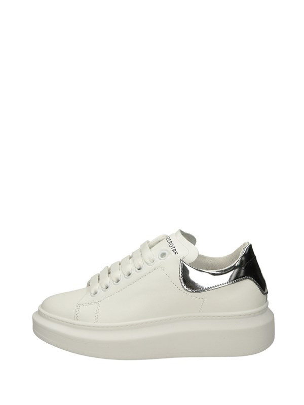 Cr03 Sneakers Basse  Bianco Argento