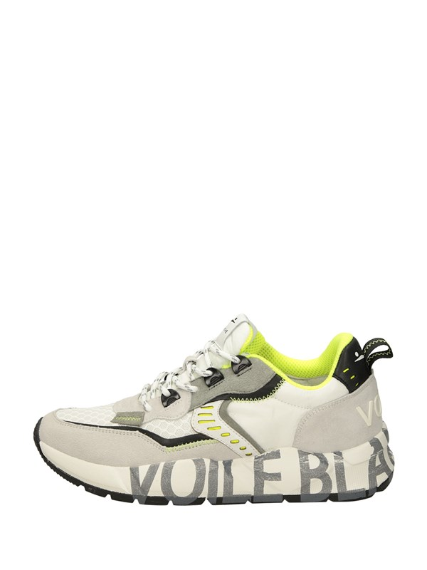 Voile Blanche Sneakers Basse  Bianco Giallo