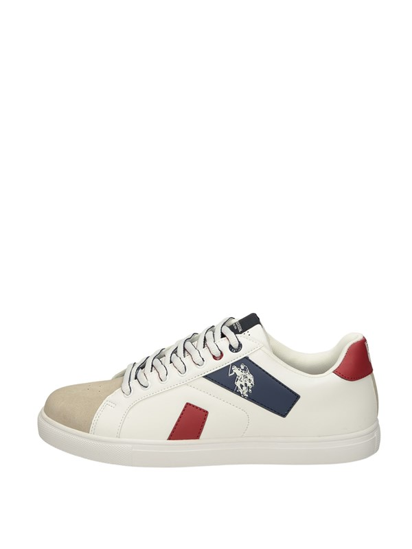 U.s. Polo Assn Sneakers Basse  Bianco Rosso
