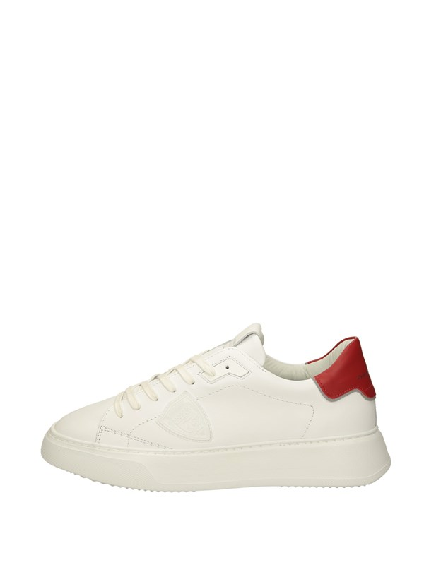 Philippe Model Sneakers Basse  Bianco Rosso