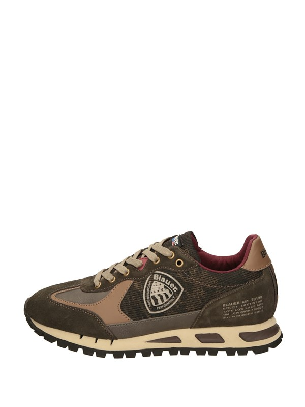 Blauer Sneakers Basse  Marrone