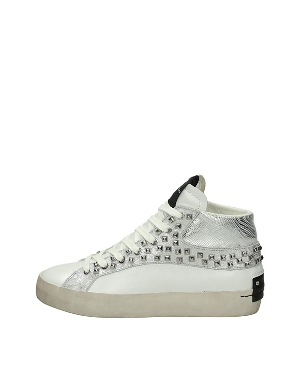 Crime London Sneakers Alta Bianco