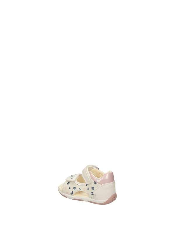 Geox Sandali Bassi Bambina Bianco Rosa | Lalilina